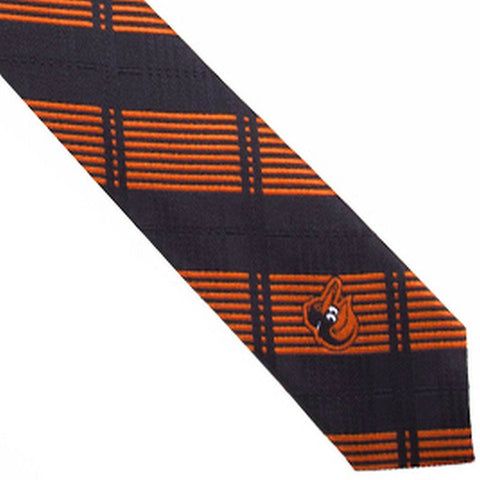 Baltimore Orioles Tie Skinny Plaid