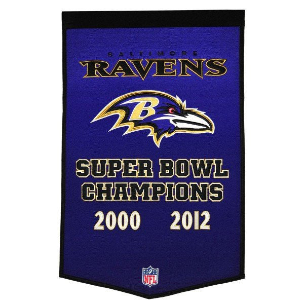 Baltimore Ravens Dynasty Banner Flag