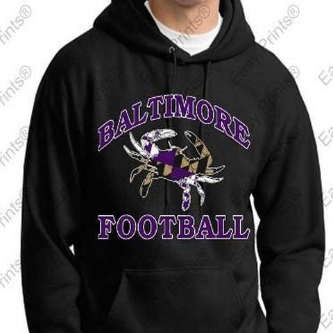 Baltimore Football Crab Ravens Black Hoody