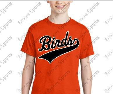 Birds Orioles Orange Kids Tshirt