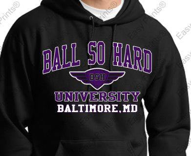 Ball So Hard University Ravens Black Hoody