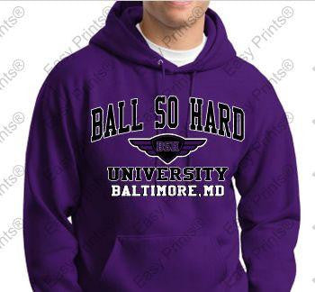 Ball So Hard University Ravens Purple Hoody