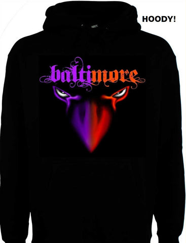 Baltimore 2Face Birds Ravens & Orioles Hoody