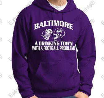 Drinking Town Baltimore Ravens Purple Hoody