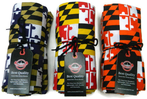 MARYLAND FLAG FLEECE THROW BLANKET