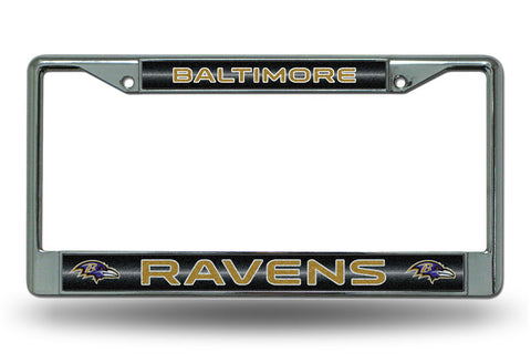 Baltimore Ravens Bling Chrome Auto License Plate Frame