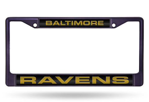 Baltimore Ravens Laser Cut Chrome License Plate Frame