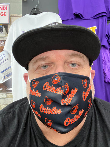 Baltimore Orioles Design Face Mask - Polyester