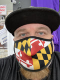 MARYLAND Flag Design Face Mask - Polyester