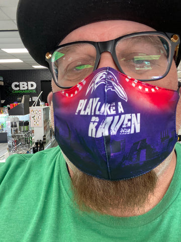 Play Like A Raven Face Mask - Polyester & Mesh