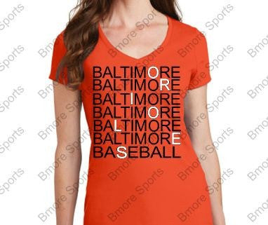 Baltimore Orioles Eye Doctor Ladies V Tshirt