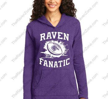 Ravens Fanatic Ladies French Terry Pullover Hooded Sweatshirt
