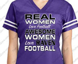 Custom Real Women Love Ravens Football Sport-Tek Ladies Jersey