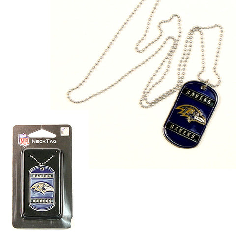 Baltimore Ravens Dog-Tag Knecklace