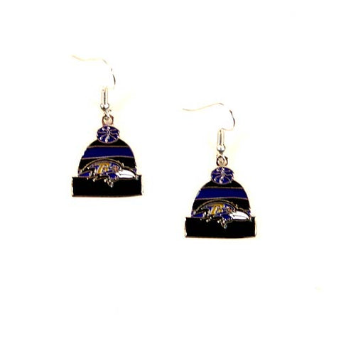 Baltimore Ravens Earrings - The KNITSTER Dangle Style