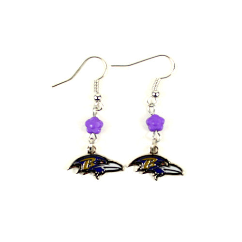 Baltimore Ravens Earrings - The SOPHIE Style Dangle