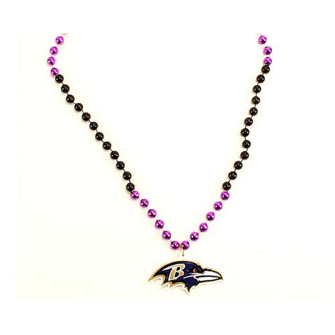 "Baltimore Ravens Beads - 22"" Team Beads"