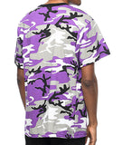 Purple Baltimore Ravens Camo Mens T-Shirt