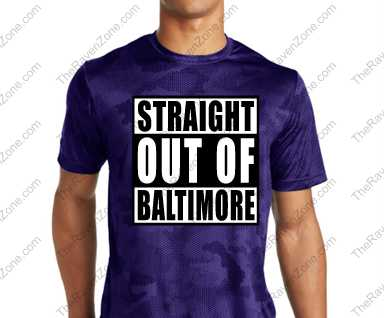 Straight Out Of Baltimore Mens Sport-Tek CamoHex Tshirt