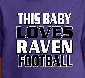 This Baby Loves Ravens Football Purple Tshirt