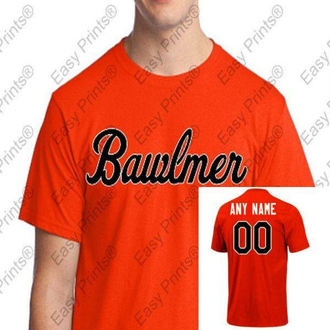 Custom Baltimore Orioles Bawlmer Orange Tshirt