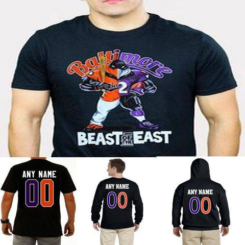 Custom Beast of The East Baltimore Ravens Orioles Black Gear