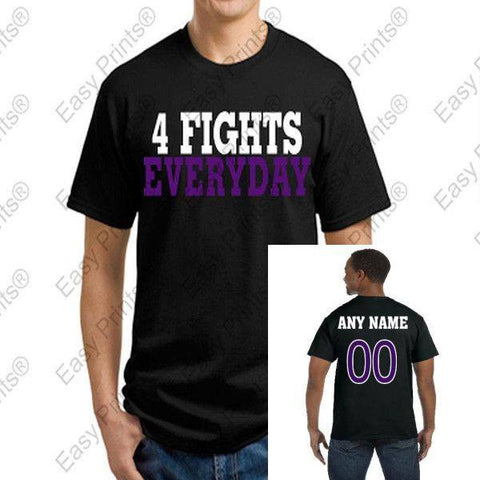 Custom 4 Fights Everyday Ravens Black T-Shirt