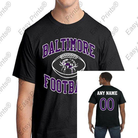 Custom Baltimore Maryland Football Crab T-Shirt