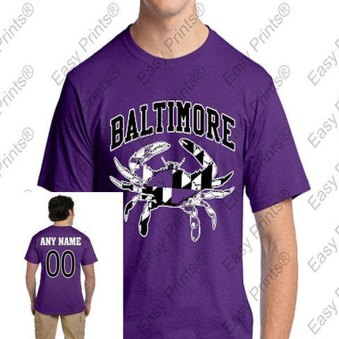 Custom Baltimore Maryland Purple Crab T-Shirt