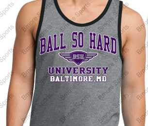 Ball So Hard University Ravens Mens Cotton Ringer Tank