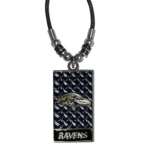 "Baltimore Ravens NFL Diamond Plate 20"" Rope Necklace"
