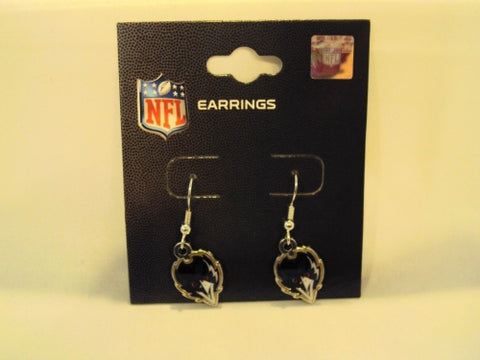 Baltimore Ravens Alternate Bird NFL Silver Dangle Earrings