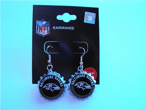 Baltimore Ravens NFL Bottle Cap Earrings