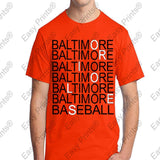 Custom Baltimore Baseball Orioles Orange T-Shirt