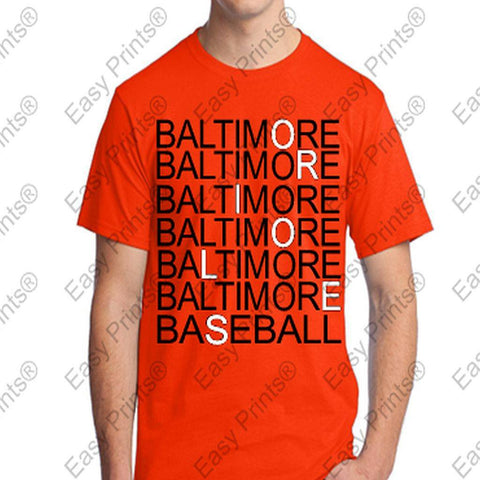 Baltimore Baseball Orioles Eye Doctor Orange T-Shirt