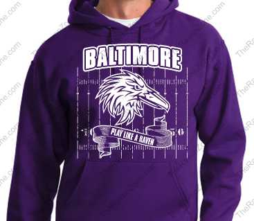 Baltimore Play Like A Raven Purple Ravens Hoody