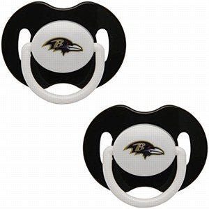 Baltimore Ravens 2 Pack Baby Pacifiers