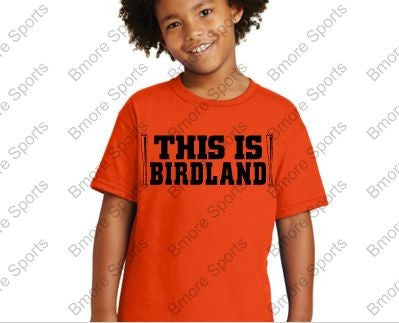 This is Birdland Orioles Orange Kids Tshirt