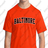 Baltimore Arch Ravens or Orioles T-Shirt Choose Purple or Orange