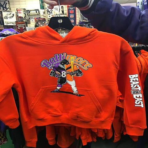 Beast of The East Baltimore Ravens Orioles Kids Hoody