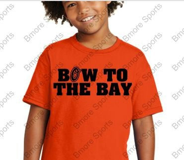 Bow to The Bay Orioles Orange Kids Tshirt