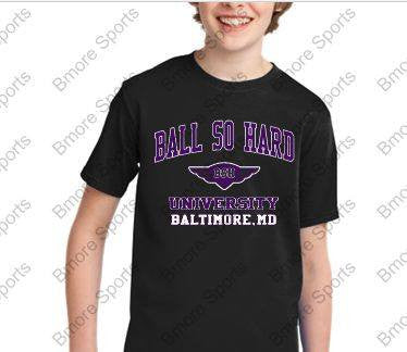 Ball So Hard Ravens Black Kids Tshirt