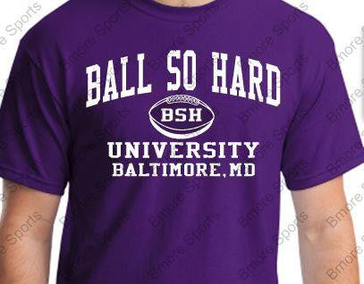 Ball So Hard Ravens Purple Adult Tshirt