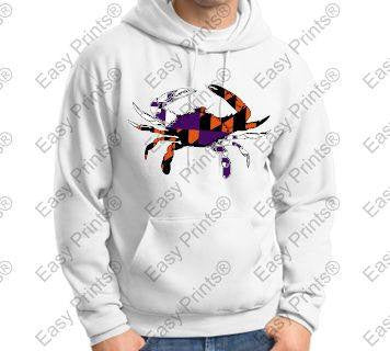 Baltimore Crab Ravens And Orioles Colors White Hoody