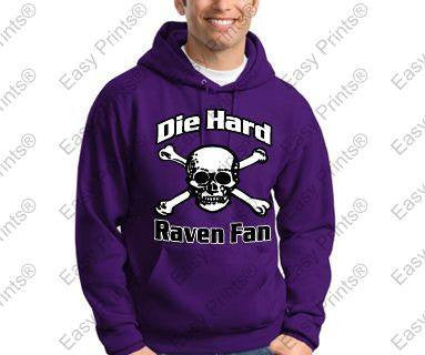 Die Hard Ravens Fan Hoody
