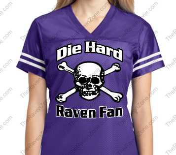 Custom Die Hard Ravens Fan Sport-Tek Ladies Jersey