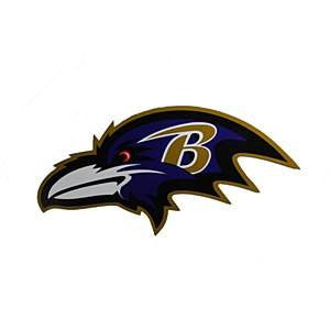 "Baltimore Ravens 12"" Left Logo Magnet"