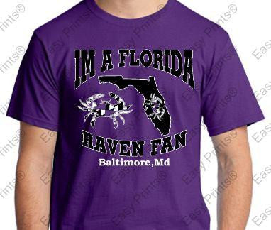 Im A Florida Baltimore Ravens Fans Custom T-Shirt