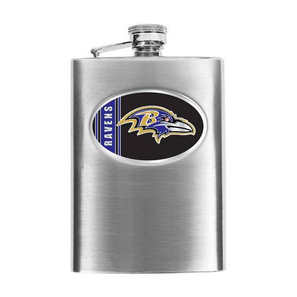 Baltimore Ravens 8oz Stainless Steel Hip Flask