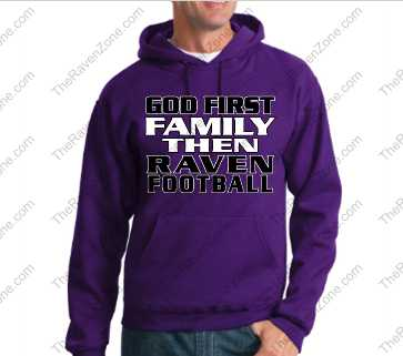 God First Family Then Purple Ravens Hoody